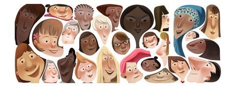 Googleロゴ「国際女性デー」